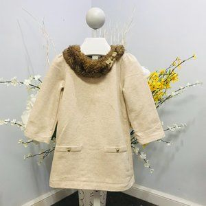 Janie and Jack Faux Fur Trimmed Dress size 6